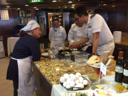 Culinary Center on Oceania Cruise Ship - meeting planner challenge to include new food experiences