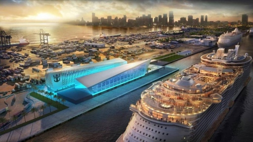 PortMiami - new Royal Caribbean cruise terminal