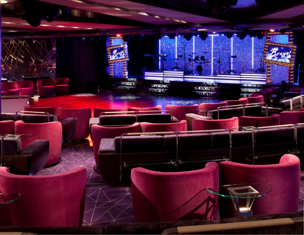 New luxury cruise ship Seabourn Encore theater