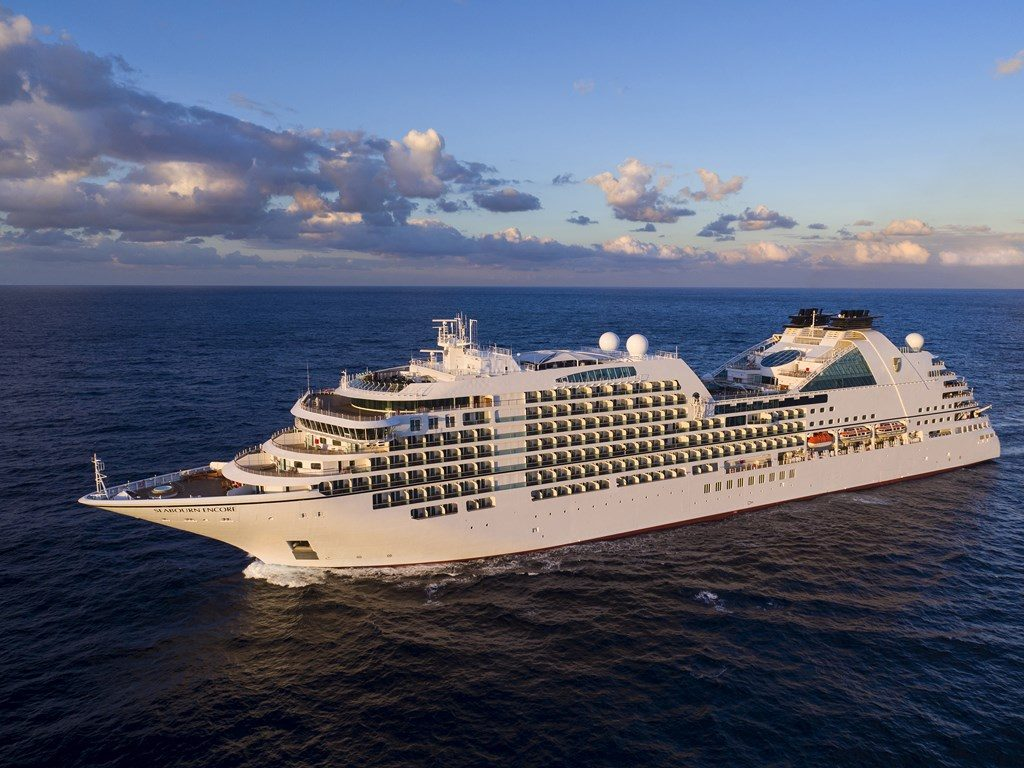 new luxury cruise ship - Seabourn Encore aerial view