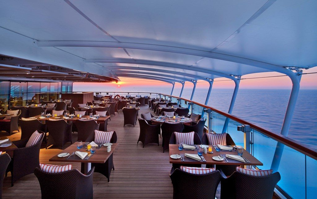 new luxury cruise ship Seabourn Encore - the Colannade
