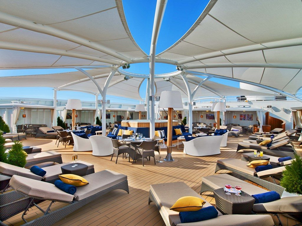 new luxury cruise ship Seabourn Encore - The Retreat