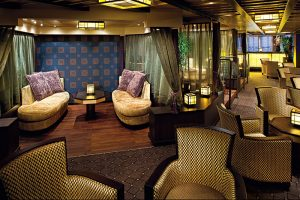 Premium 3 & 4-night cruises for incentives on Nieuw Amsterdam. Silk Den lounge
