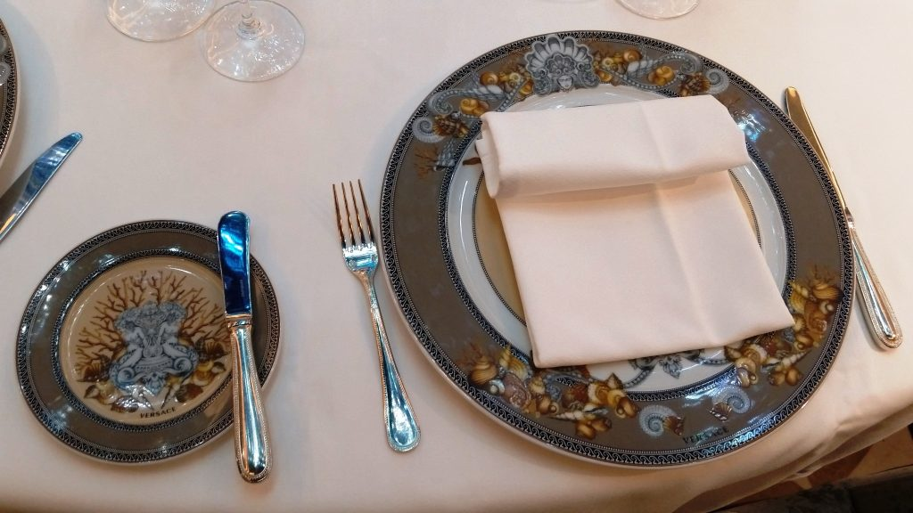 Seven Seas Explorer - Luxury Versace dinnerware