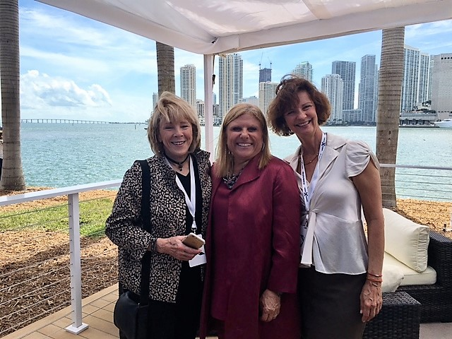 Jo Kling, Lisa Lutoff-Perlo, and Joyce Landry at the Celebrity Edge Press Event in Miami