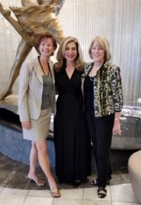 Cruise Industry Leaders -Edie Rodriguez, President & CEO Crystal Cruises with Landry & Kling founders Joyce Landry & Jo Kling