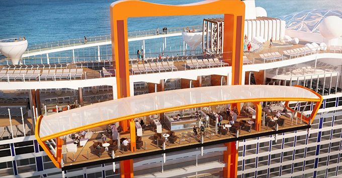 Celebrity Edge Magic Carpet platform