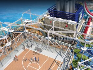 Norwegian Breakaway Sports Deck - cruise event trends