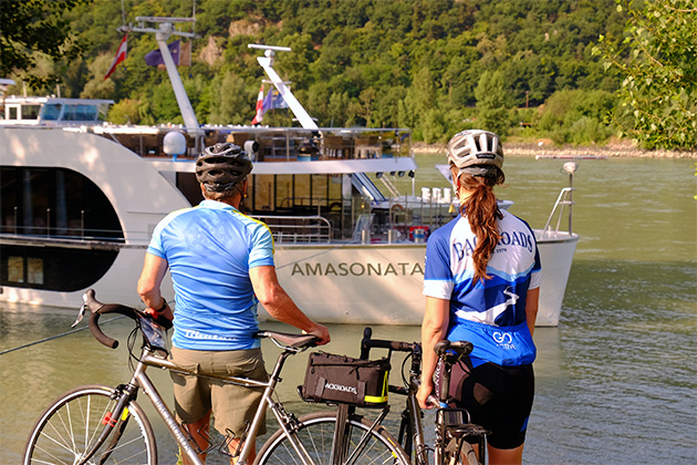AmaWaterways and Backroads active bike tours along Danube