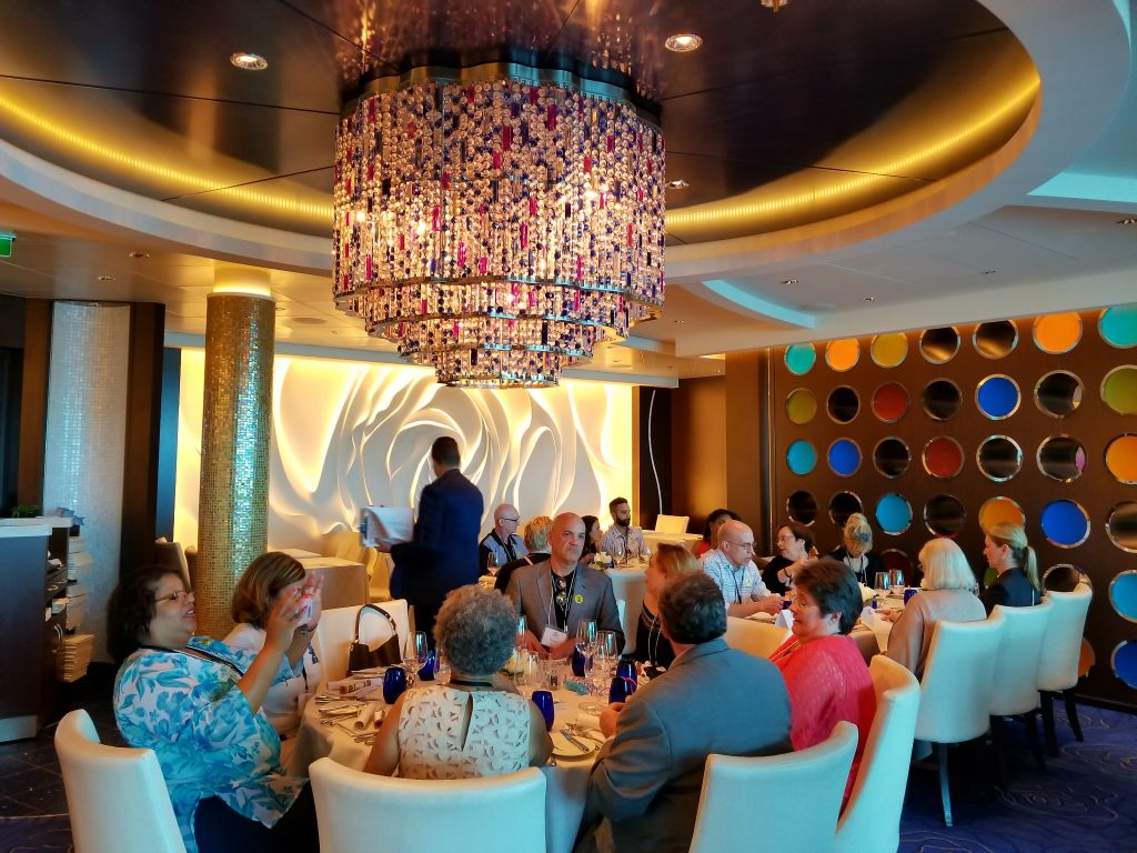 Landry & Kling celebrates 35 years meeting at sea at Restaurant Blu, Celebrity Reflection