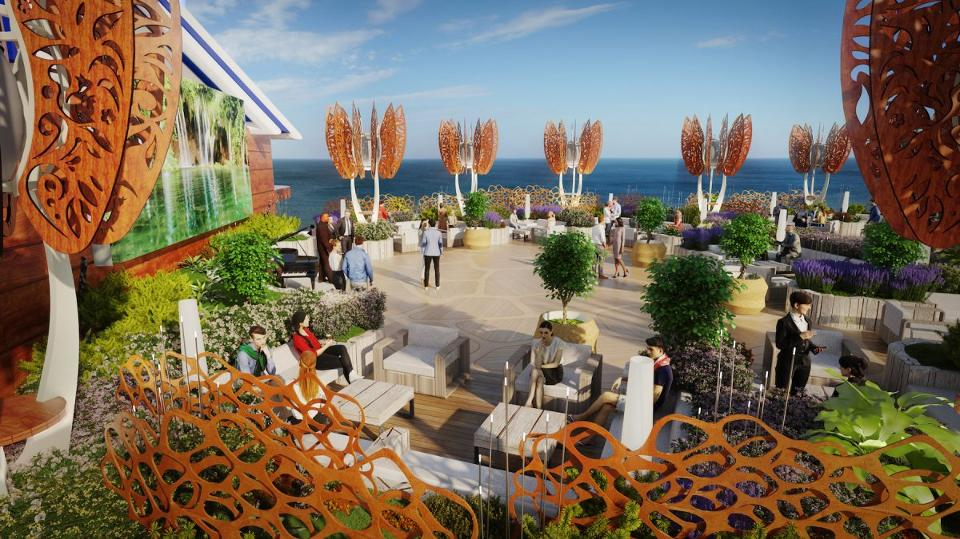 cruise ship meeting space - Celebrity Edge Rooftop Garden