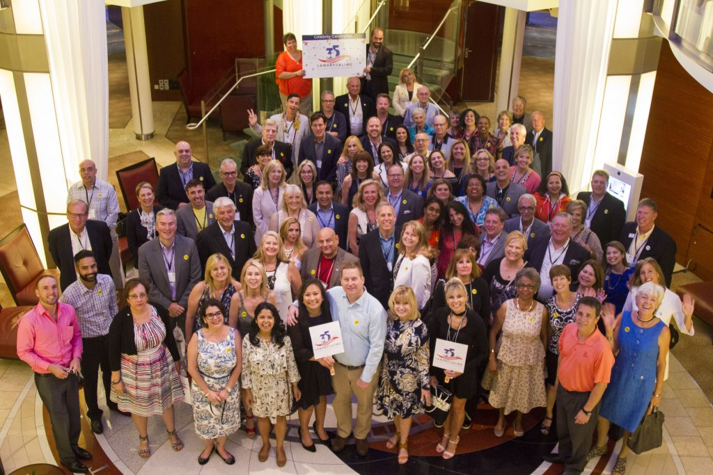 Landry-Kling 35 year event on Celebrity Reflection - meeting at sea