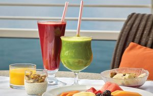 Oceania Cruises raw juices - add wellness to meetings & incentives