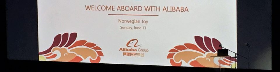 Alibaba welcomes guests during Norwegian Joy ship charter