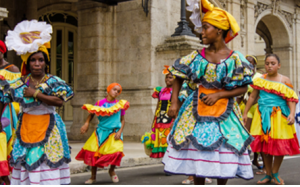Cuba Cruises on Carnival Paradise - street dancers