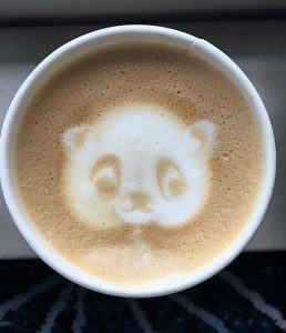 Norwegian Joy Latte Art