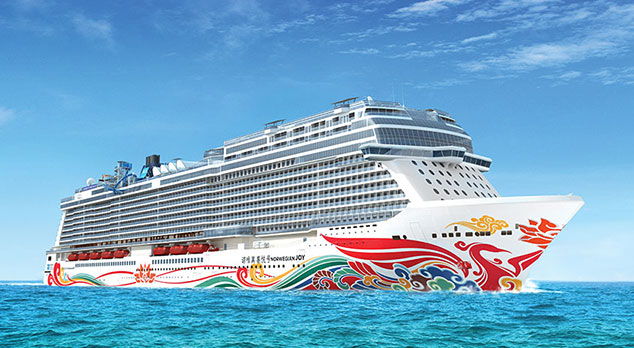 Norwegian Joy ship at sea