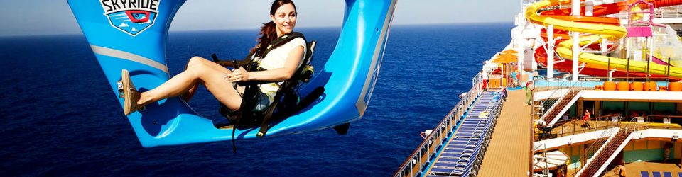SkyRide on Carnival Vista - fun ways to add fitness to meetings
