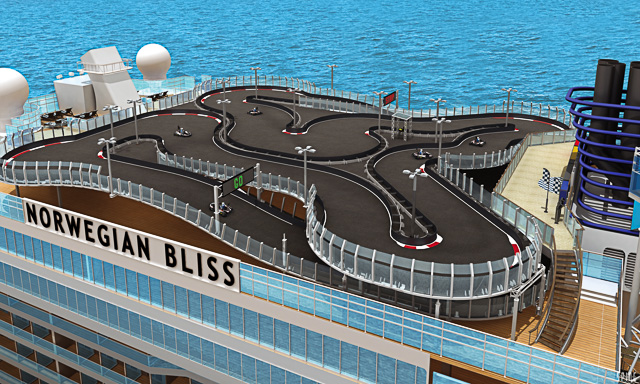 Norwegian Bliss Race Track meet at sea
