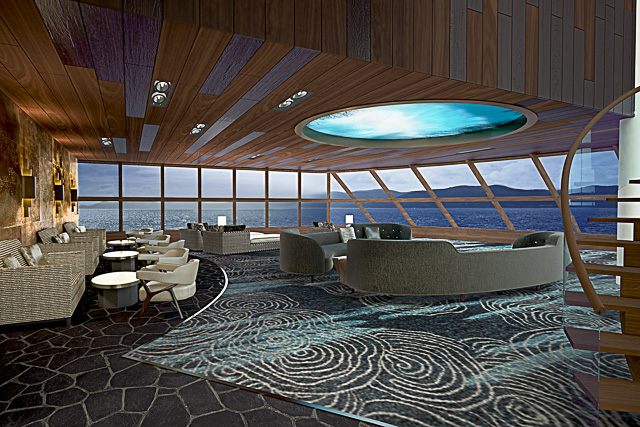 Norwegian Bliss Observation Lounge - meet at sea