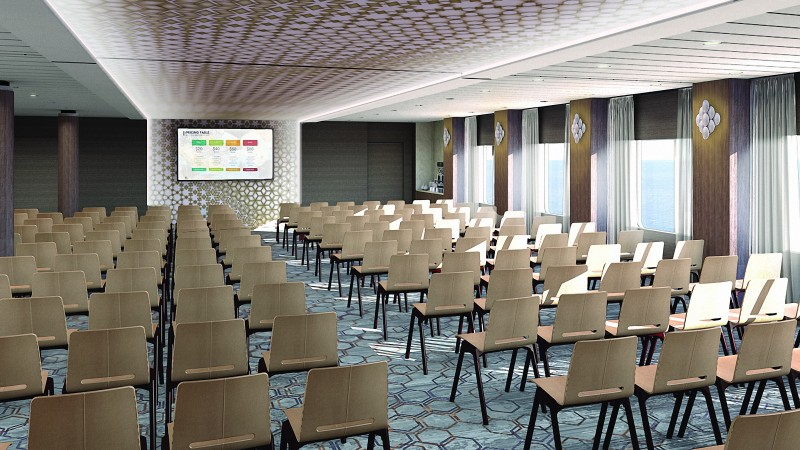 Floating Hotels Celebrity Edge Meeting Space theater style