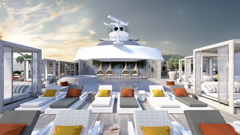 Celebrity Edge suite-retreat sundeck- cruise ship renovations