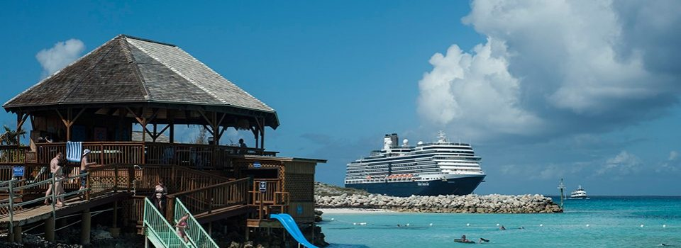 Holland America ship at Half Moon Cay - Incentive cruise packages