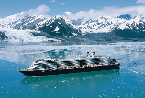 Incentive Cruise Packages- Holland America ship sailing through Hubbard Glacier