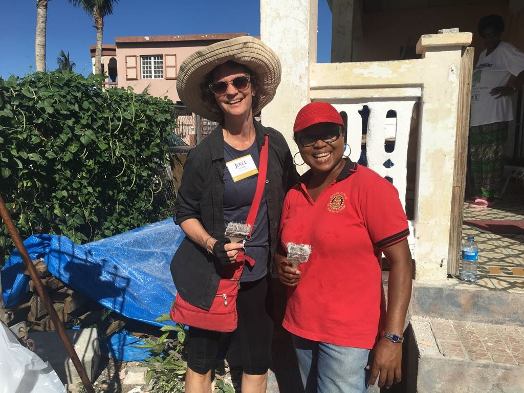 Joyce Landry joins St. Maarten Rotary Club to paint houses