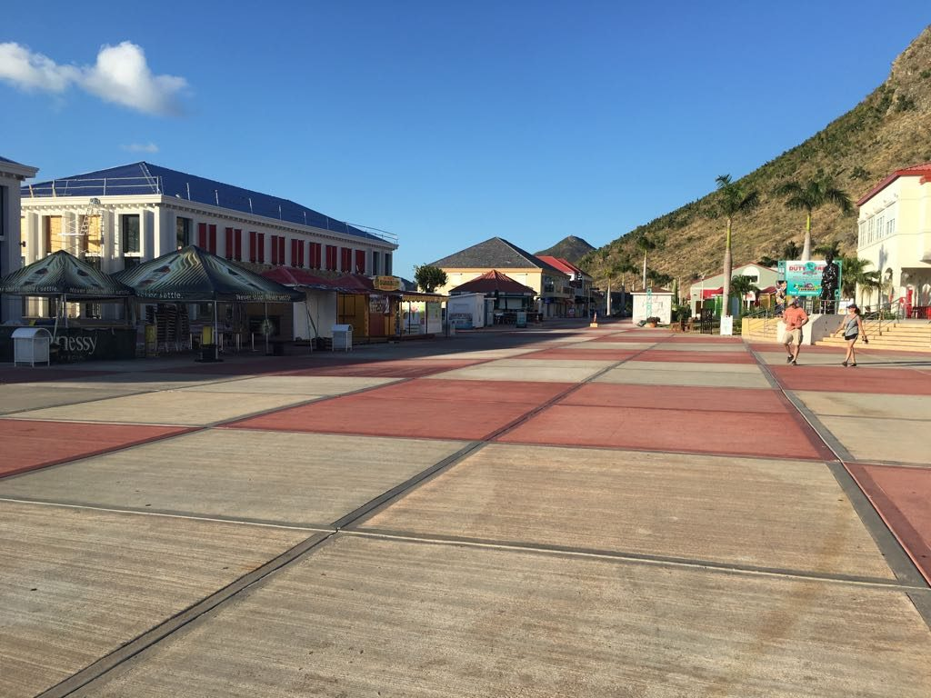 St. Maarten cruise port is empty after the hurricane