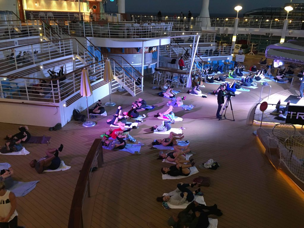WOD ship charter included workshops and classes on deck both night and day