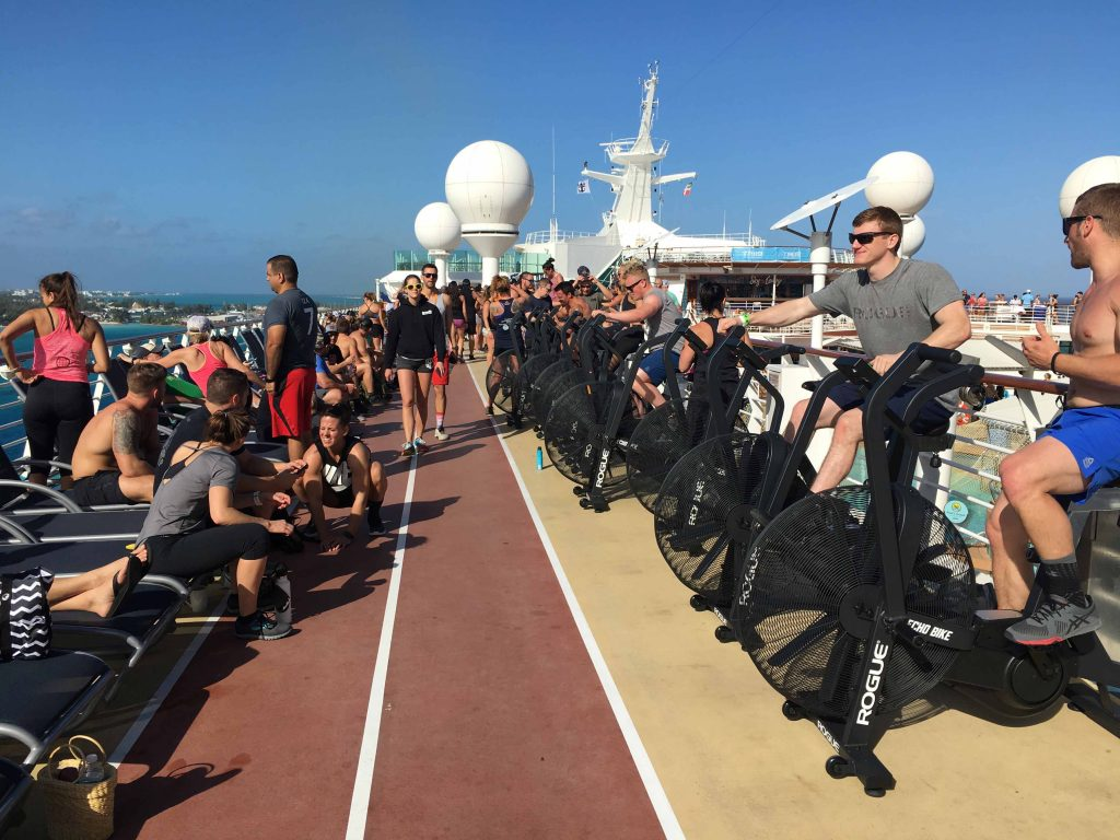 WOD ship charter - 225 pieces of sports equipment loaded on Mariner of the Seas
