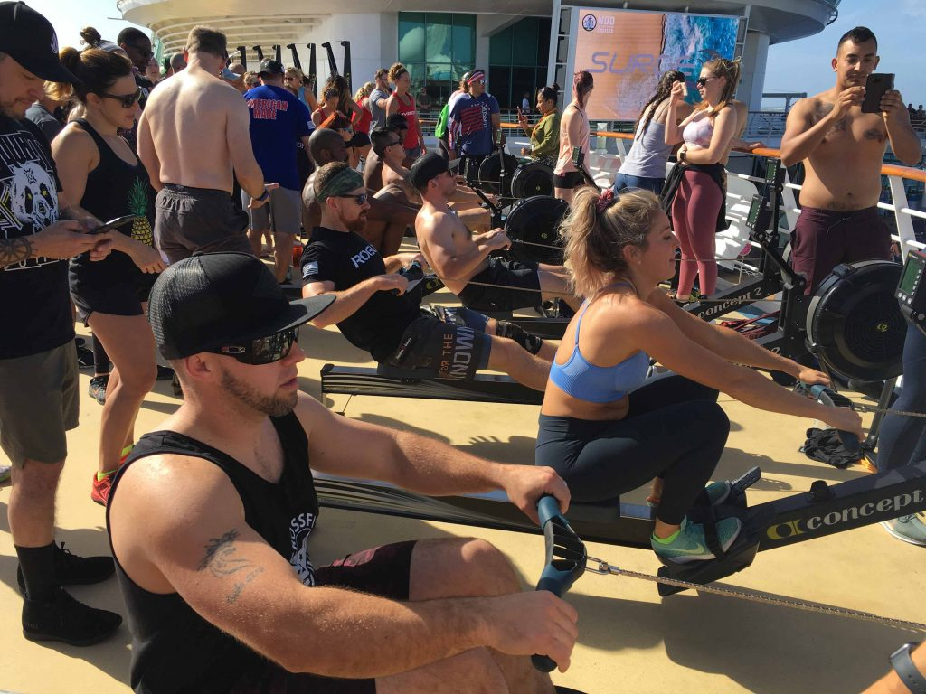 WOD ship charter with ultimate fitness equipment