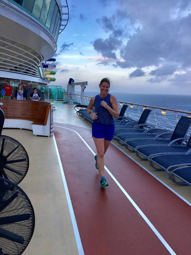 Running track with WOD cruise runner on Mariner of the Seas