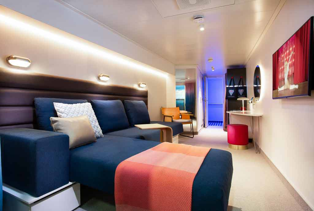 Virgin Voyages Scarlet Lady statement with innovative SeaBed