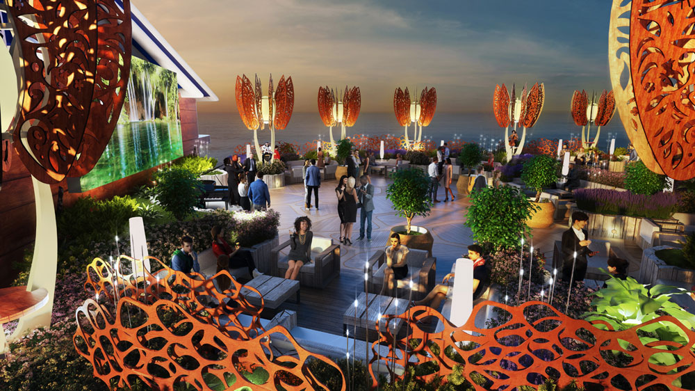 Celebrity Edge Rooftop Garden is perfect for group events