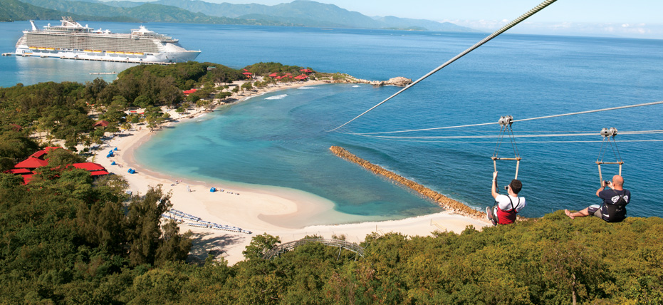 Royal Caribbean Cruise Line private island experience Labadee