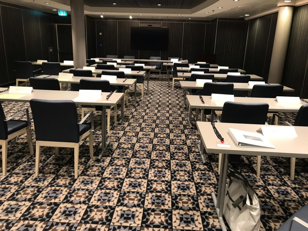 Symphony of the Seas Conference Room set up for IAT.