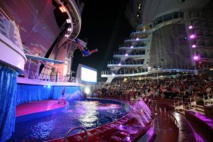 Royal Caribbean Anthem of the Seas AquaTheater features thrilling dive shows.
