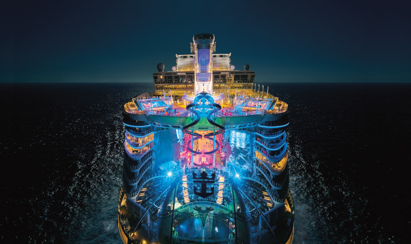 Royal Caribbean Harmony of the Seas at Night