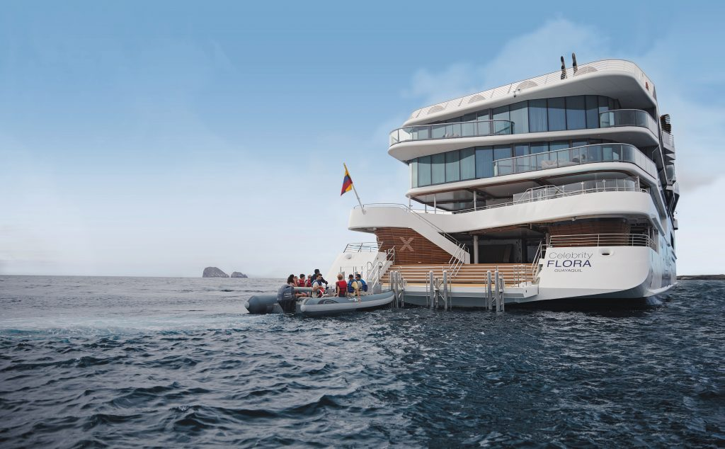 All-suite expedition mega-yacht Celebrity Flora in Galapagos