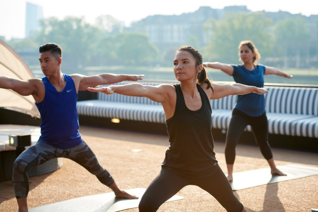 Yoga on the Top Deck during Uniworld River Cruise in Europe