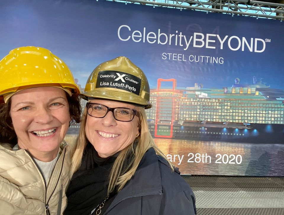 Joyce Landry with Celebrity Cruises President and CEO, Lisa Lutoff-PerloPresident and CEO Lisa Lutoff-Perlo