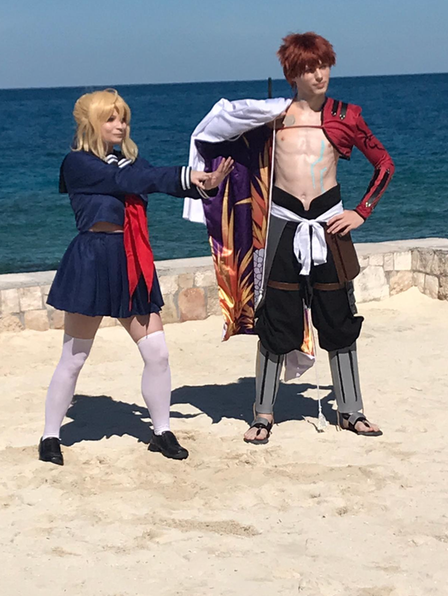 Cosplay on the Beach at Perfect Day at CocoCay]