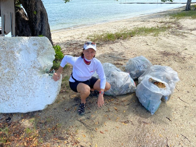 Joyce Landry Beach Cleanup with Miami Waterkeepers