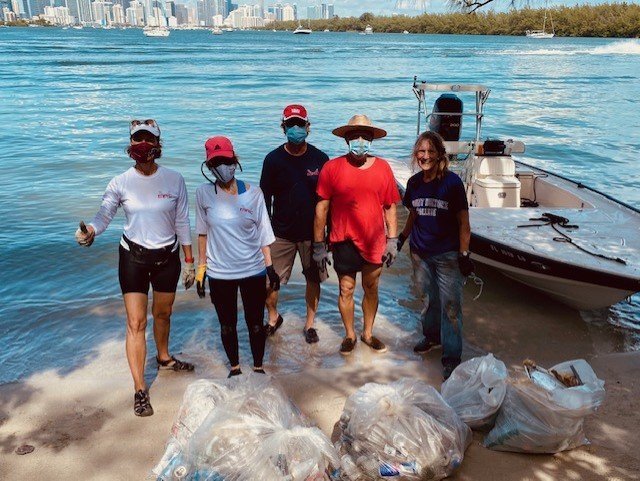 Joyce Landry Waterkeepers Beach Cleanup