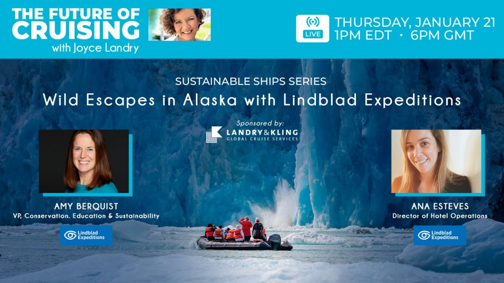 Sustainable Ships Webinar featuring Joyce Landry & Lindblad Expeditions