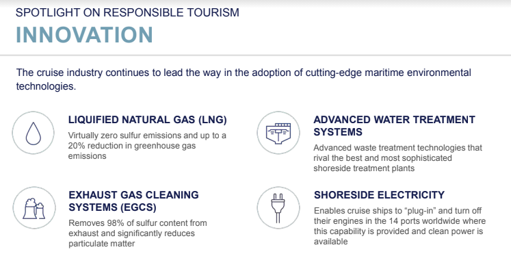 CLIA State of Cruis Industry 2021 - responsible tourism