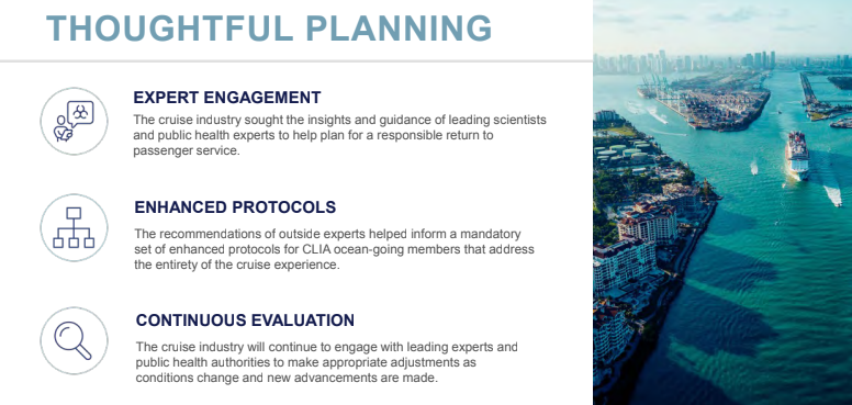 CLIA 2021 State of Cruise Industry - Planning -Protocols