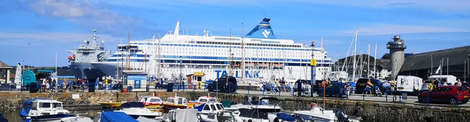 Europa Silja docked in Falmouth for G7 Summit